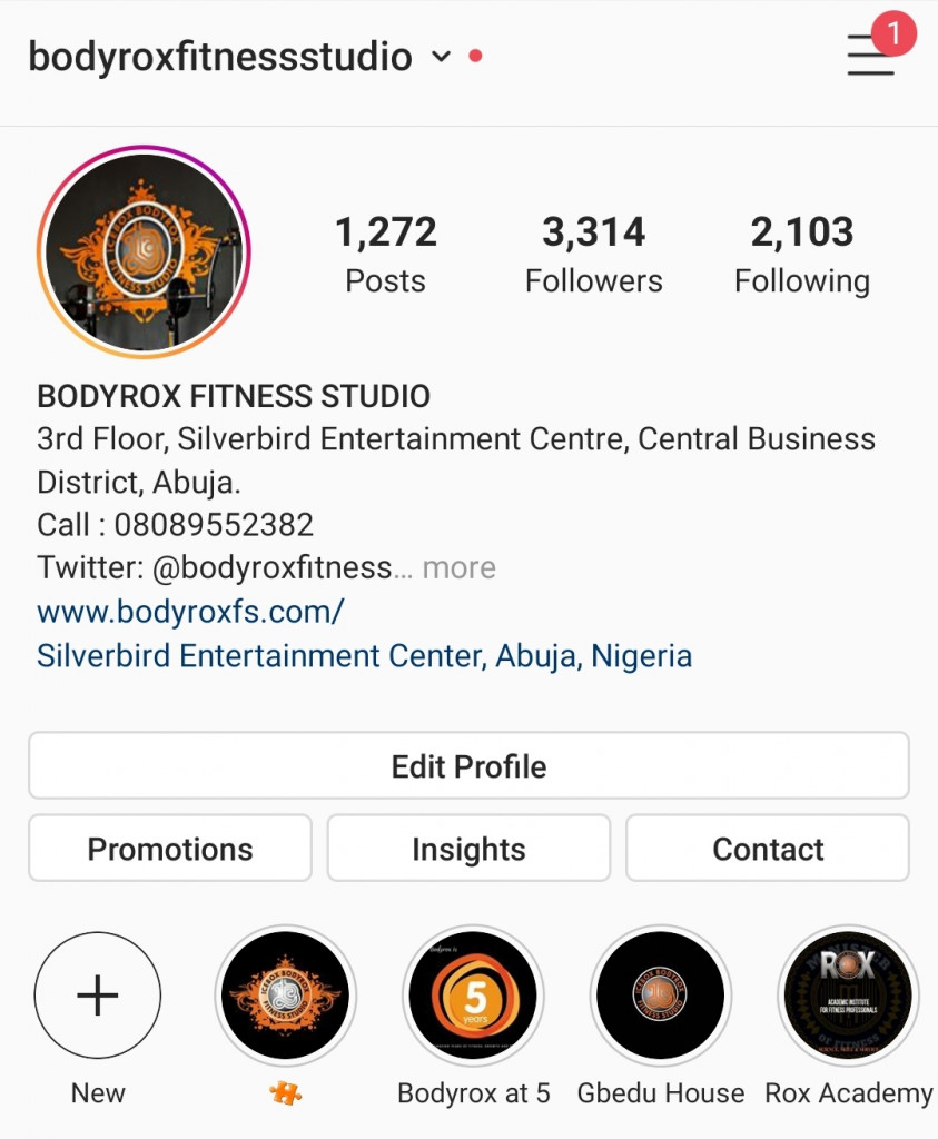 The image shows growth in bodyrox instagram page in 6 months
